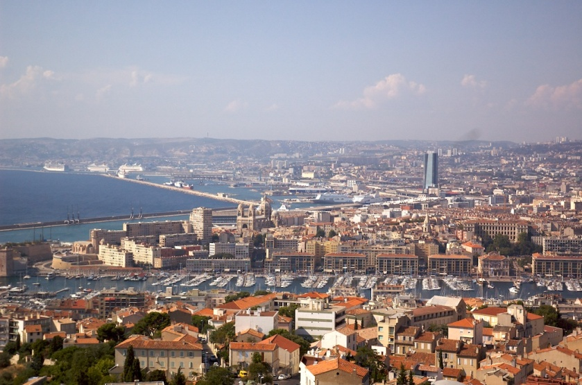 View of the Vieux-Port and Marseille from Notre-Dame (bonne-mère)