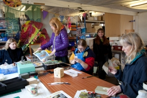 Tessa and her team at the TLC Scrapstore in Bridport