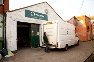 Bridport TLC's van and premises on St Michae's Trading Estate