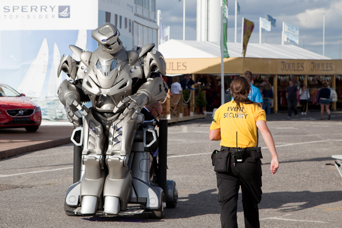 robot likes the look of Event Security at Weymouth Bayside Festival