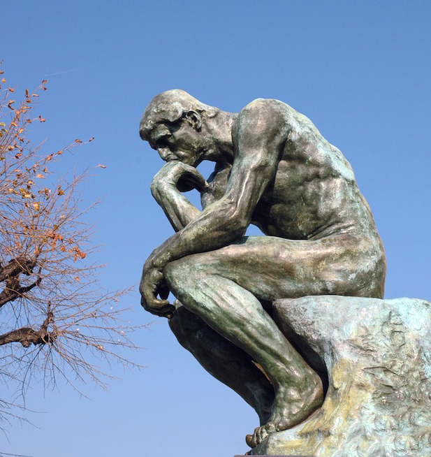 Le penseur, Rodin, St Paul de Vence, France.